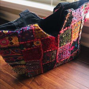 Antik Batik Bags - NEW Boho Embellished Large Handbag Multi Color
